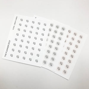 Icon Planner Stickers - Credit Card