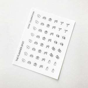 Icon Planner Stickers - Celebrations