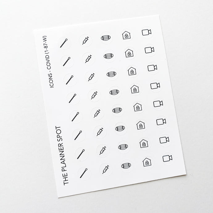 Icon Planner Stickers - COVID