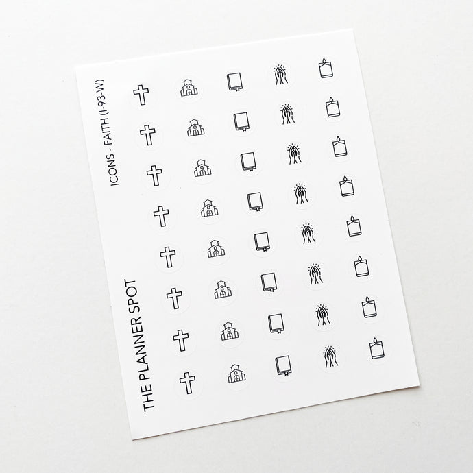 Icon Planner Stickers - Faith