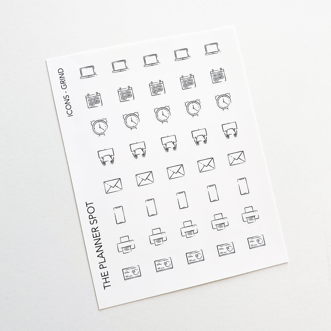 Icon Planner Stickers - Grind