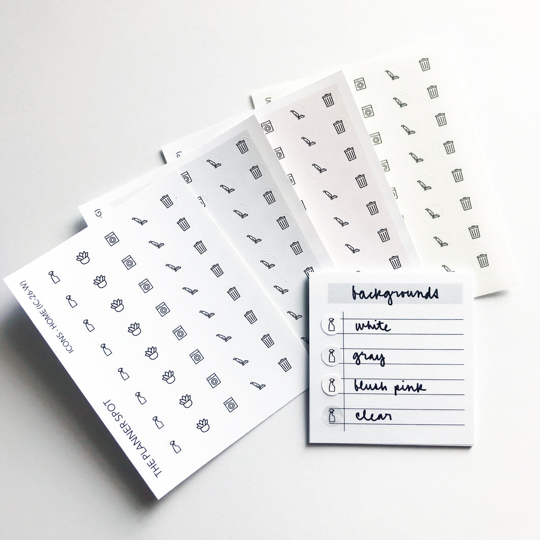Icon Planner Stickers - Home