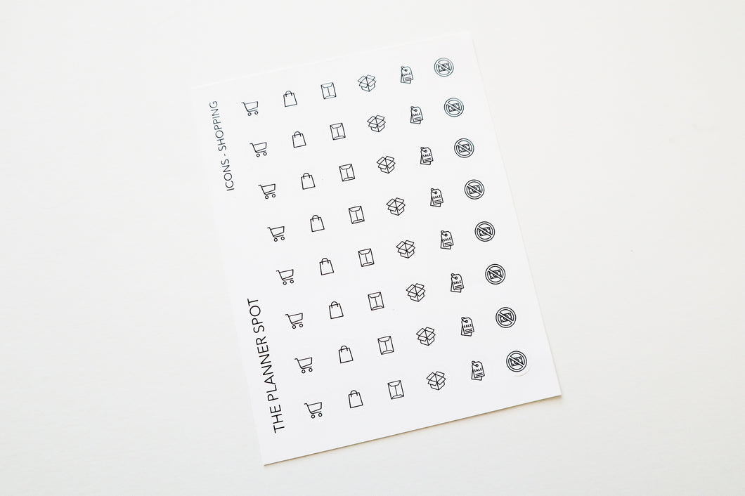 Icon Planner Stickers - Shopping