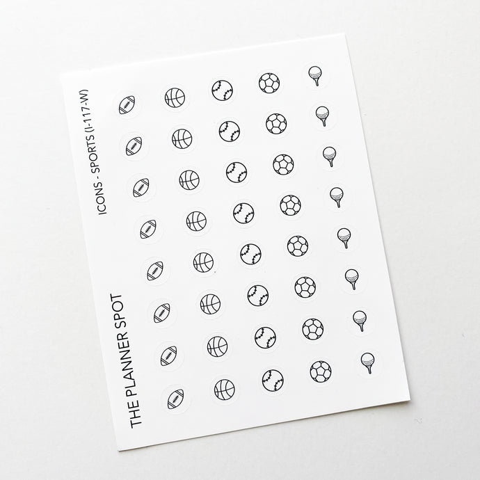 Icon Planner Stickers - Sports