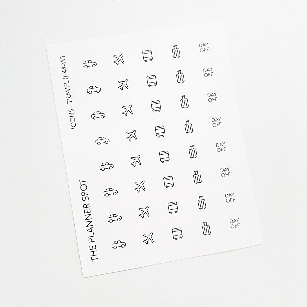 Icon Planner Stickers - Travel