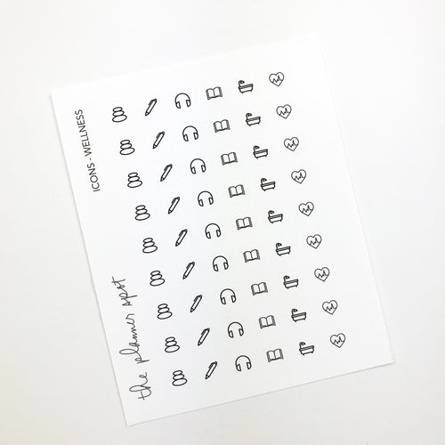 Icon Planner Stickers - Wellness
