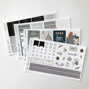 Planner Sticker Kit - Cozy November