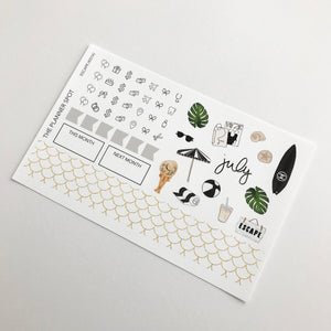"Planner Sticker Kit - ""Escape"" July Kit"
