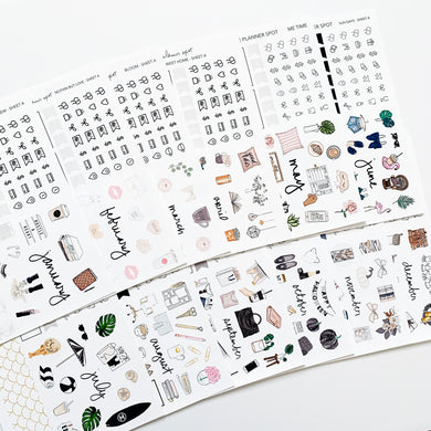 2019 Monthly Sticker Kits