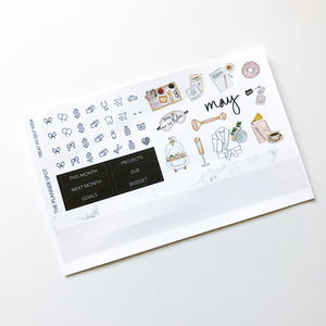 "Monthly Kit Planner Stickers - May ""Treat Yo Self"""