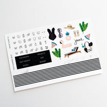 "Load image into Gallery viewer, Monthly Kit Planner Stickers - June ""Resort"""