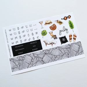"Monthly Kit Planner Stickers - July ""Hot Couture"""