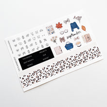 "Load image into Gallery viewer, Monthly Kit Planner Stickers - September ""Fall Fashion"""