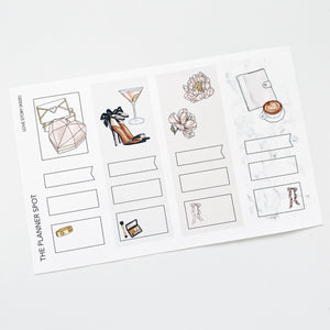 "Monthly Planner Stickers - February ""Love Story"""