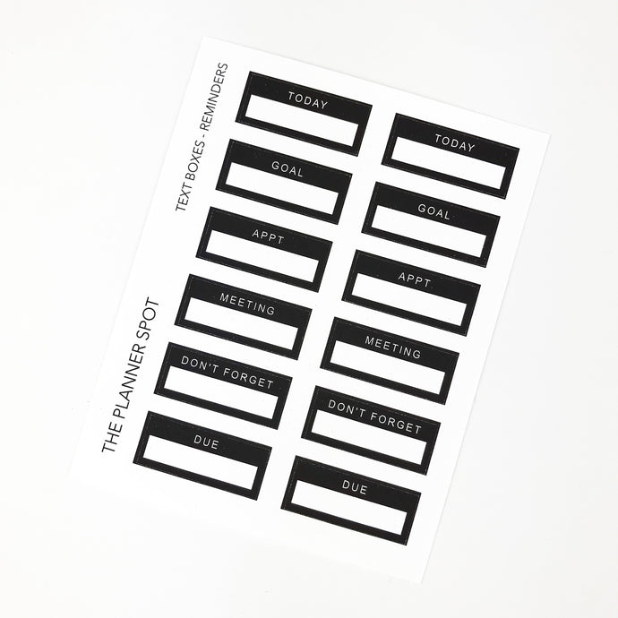 Functional Planner Stickers - Reminders