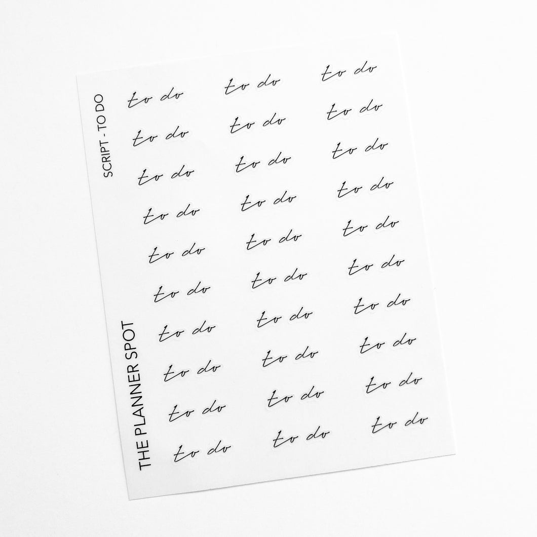 Script Planner Stickers - To Do