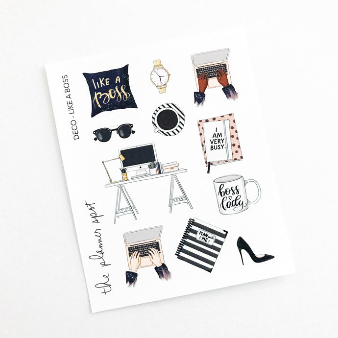 Decorative Planner Stickers - Like a Boss
