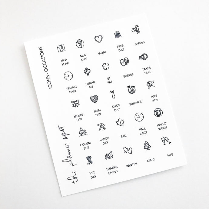 Icon Planner Stickers - Occasions