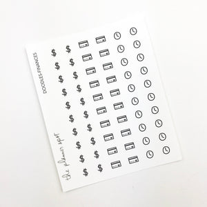 Doodles Stickers - Finance