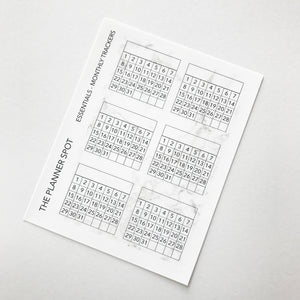 Functional Planner Stickers - Monthly Trackers