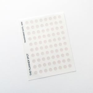 Transparent Planner Stickers - Mini Dots