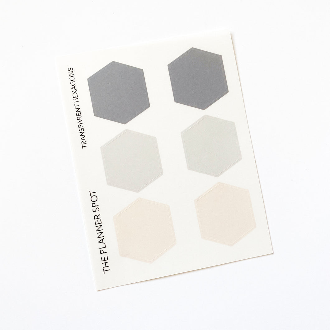 Transparent Planner Stickers - Hexagons