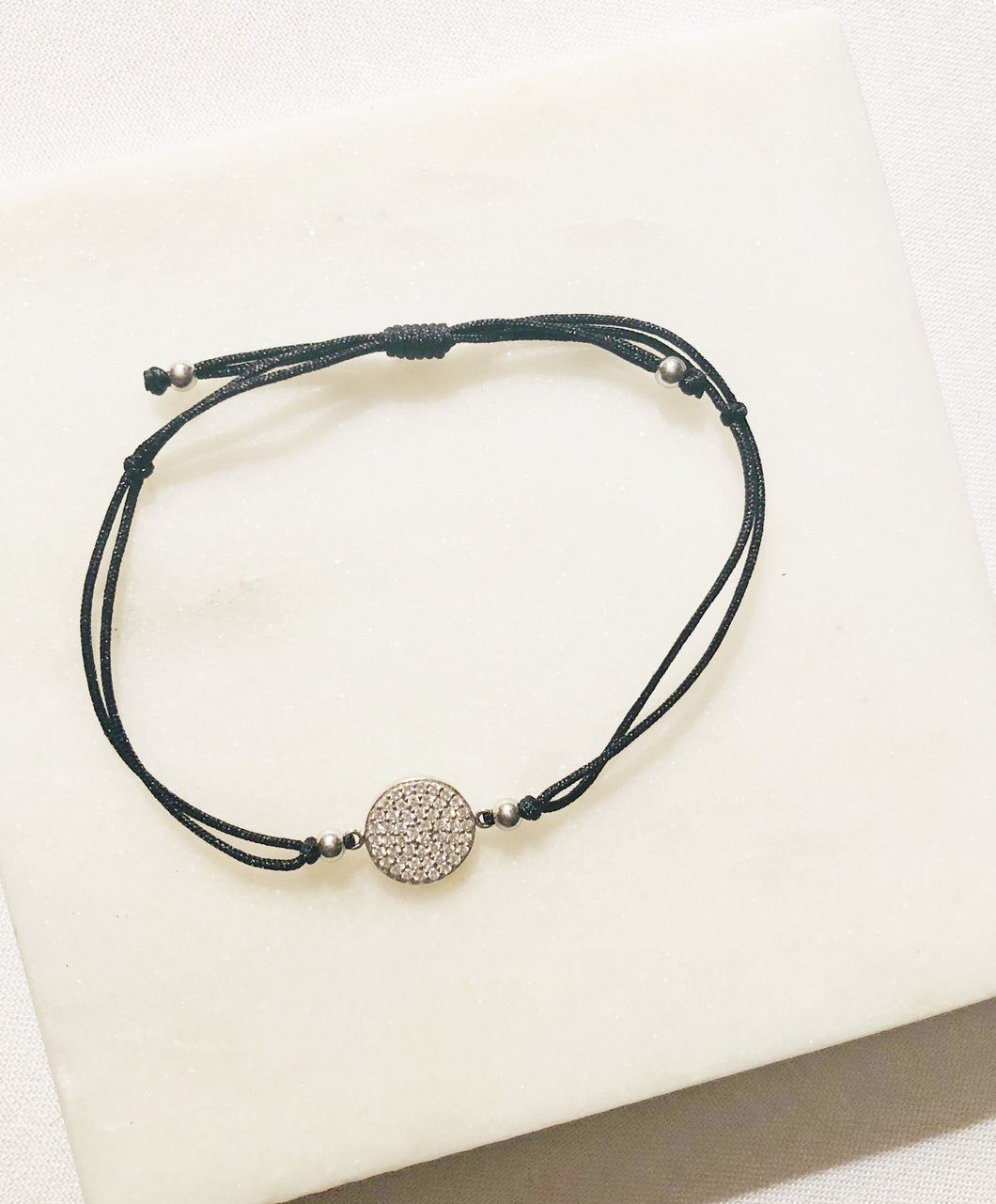925 Sterling Silver circle bracelet. Delicate petite circle that symbolize the balance of life.
