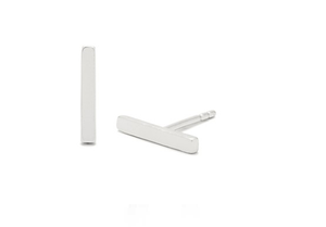 Solid Minimalist Bar Earrings - Sterling Silver