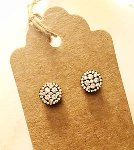 925 Sterling Silver/Black Ruthenium pave circle earrings. Edgy yet timeless just like you.