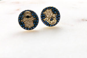 Hamsa Stone Earrings