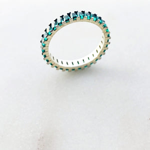 Colombian Green eternity band