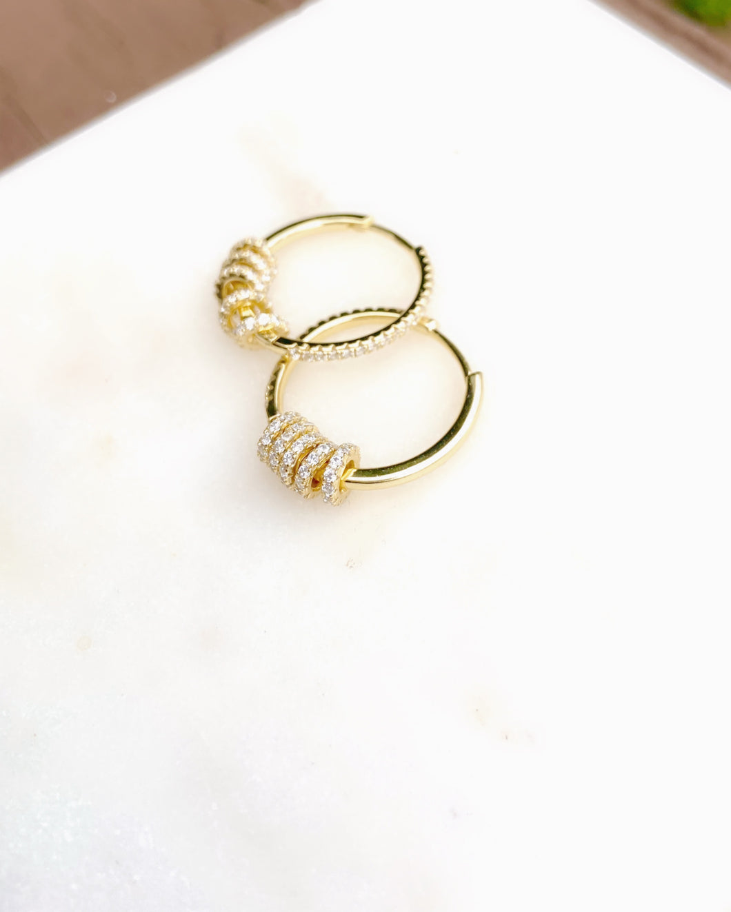 Sterling Silver Gold Plated Multi Ring Hoops