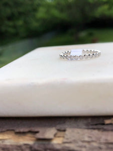 Classic Clear CZ Stackable Band