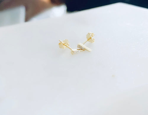 Tiny Small Sterling Silver Pointy Studs