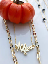 Load image into Gallery viewer, Sterling Silver 14K Gold Plated MY LOVE Necklace - Gold Plated