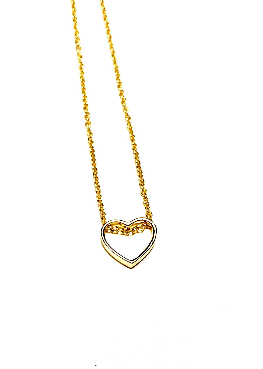 925 Sterling Silver/Gold Plated Simple Mini Heart Necklace
