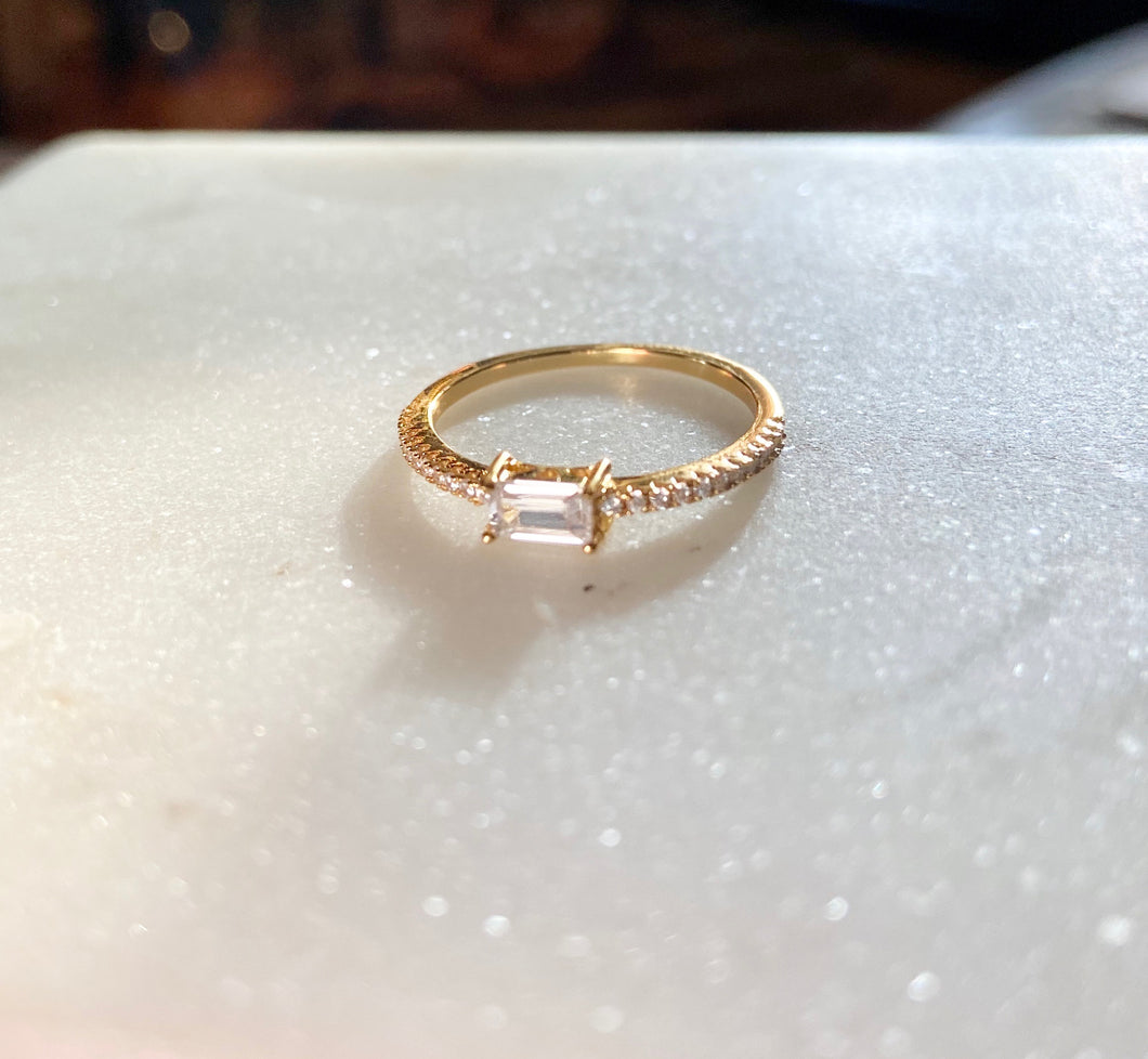 Sterling Silver 14K Gold Plated Isabel Ring