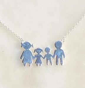 925 Sterling Silver My Family Necklace