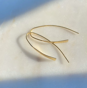 Sterling Silver Gold Plated Liquid Gold Hoops Earrings