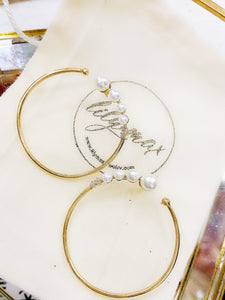 Fancy Pearl Inside Out Loop Earrings
