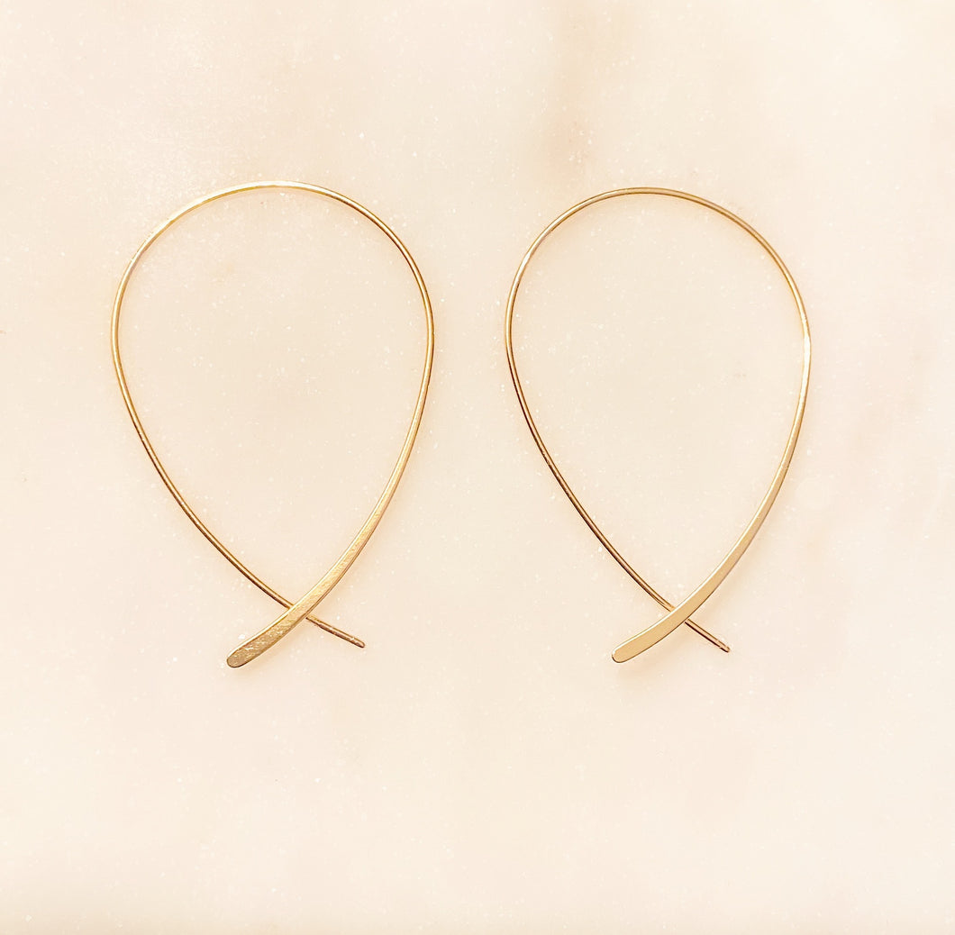 Sterling Silver Inside Out Line Hoops