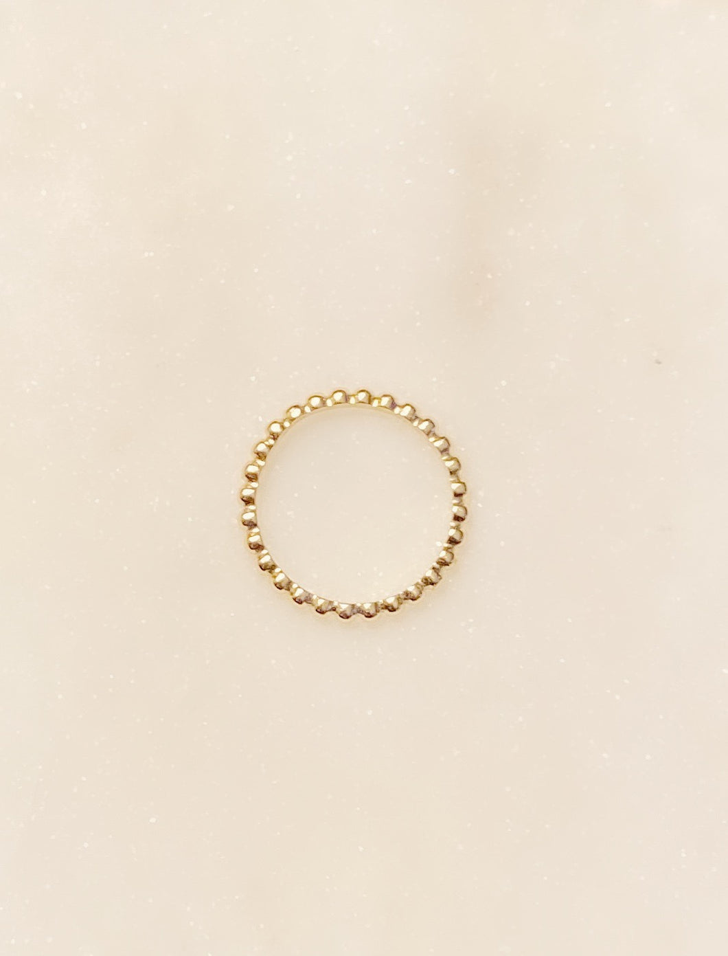 Sterling Silver Gold Plated Bead Stackable Ring
