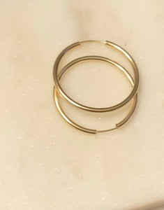 Endless Fab Hoop Earrings - 38mm