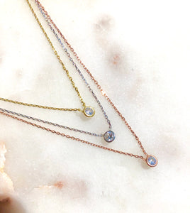 Bezel Layered Necklace