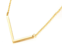 Load image into Gallery viewer, Be Bold Silver/Gold Tone Block Letter Necklace - L