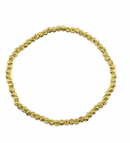 gold bead bracelet for the wrist