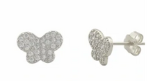Load image into Gallery viewer, The Butterfly Mariposa Sterling Silver and CZ Stud Earrings