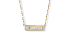 Load image into Gallery viewer, Mini CZ Sterling SIlver Gold Plated Necklace
