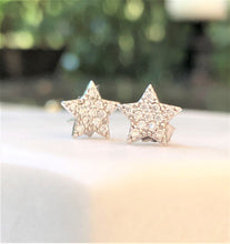 Load image into Gallery viewer, Shining Silver Star Earrings