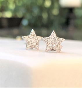 Shining Silver Star Earrings